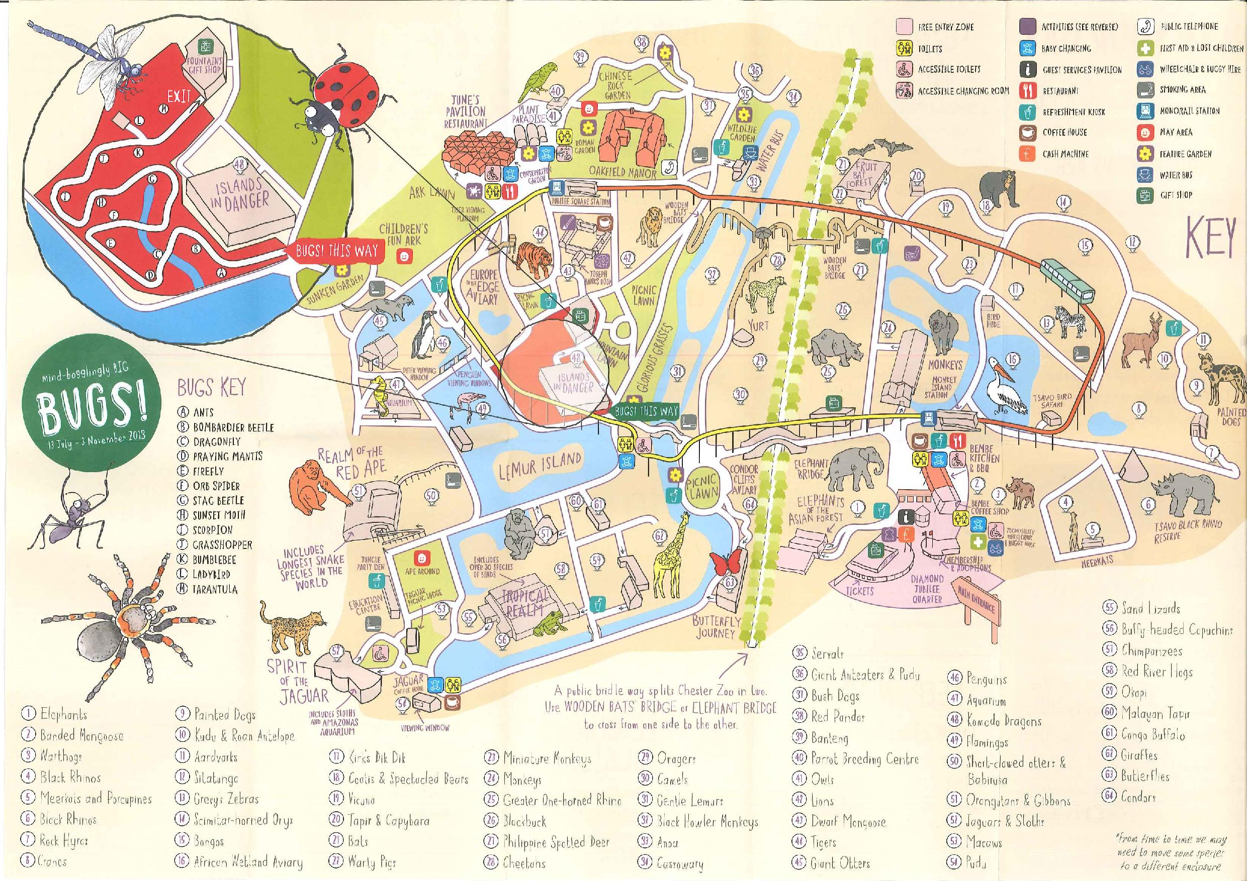 Map Zoo Chester Islands