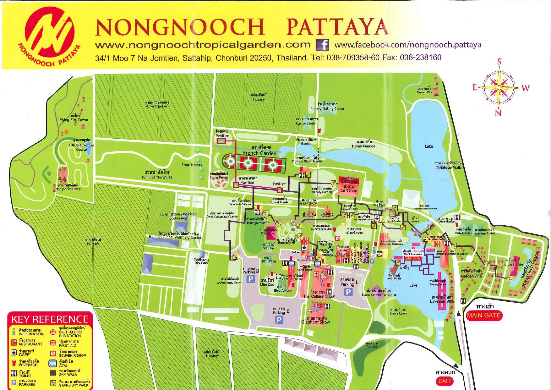 Peta Nong Nooch (sumber: http://www.zoomaps.co.uk/uploads/2/3/8/1/23819198/nayer0-page-001.jpg)